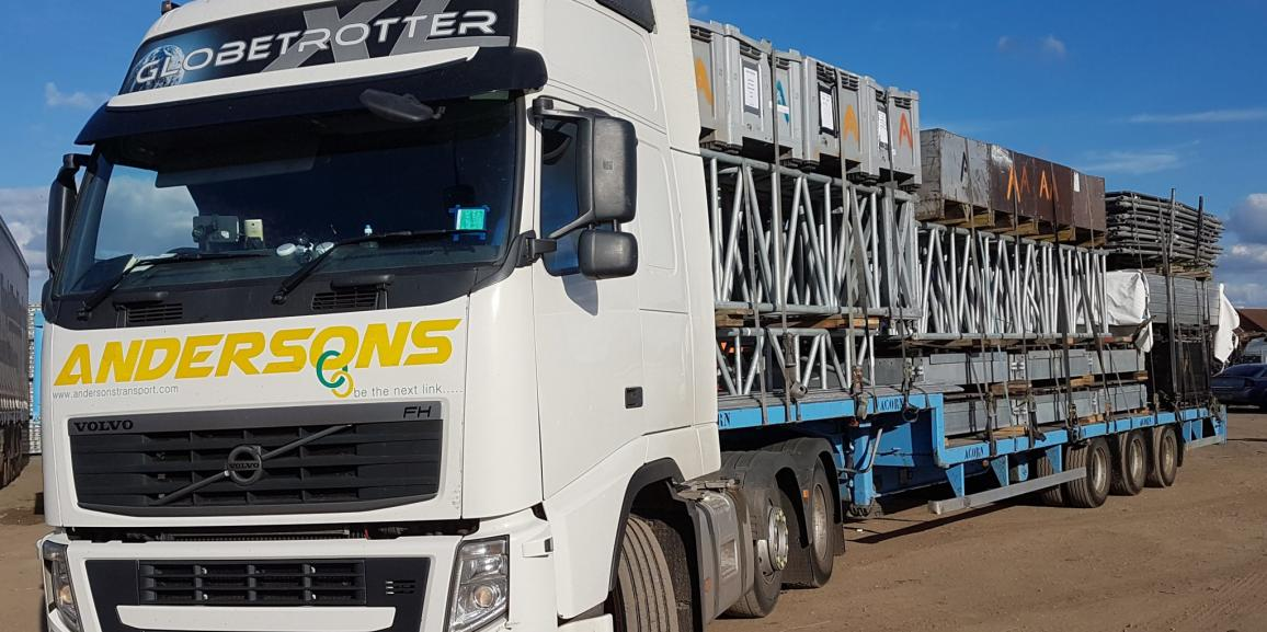 Andersons Loaded with Scaffolding Equipment