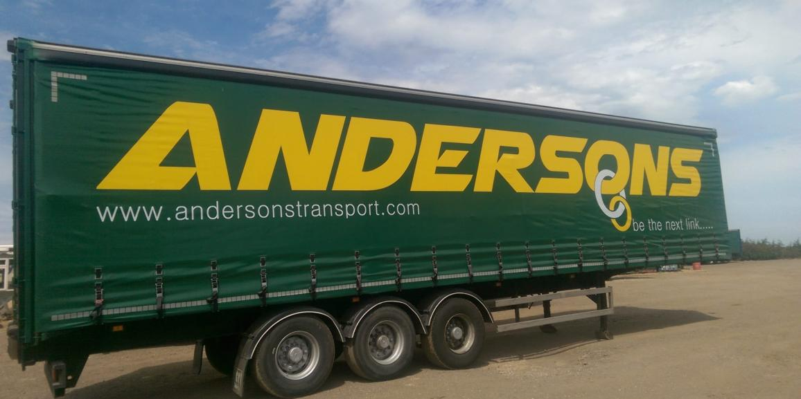 Andersons Curtainsider Trailer Livery 2015
