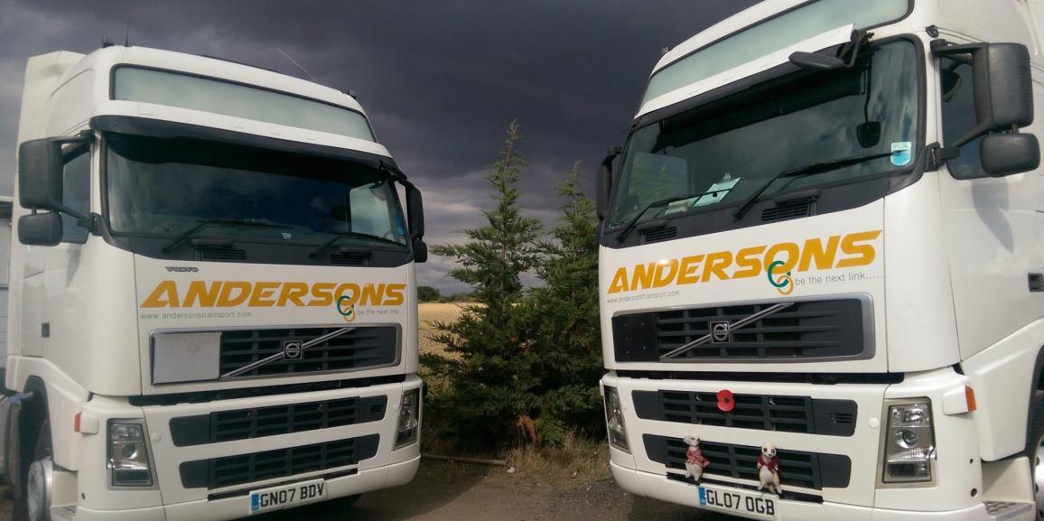 Andersons Transport Volvo's